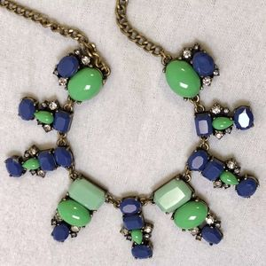 J.Crew Dangling Shapes Necklace in Succulent Green
